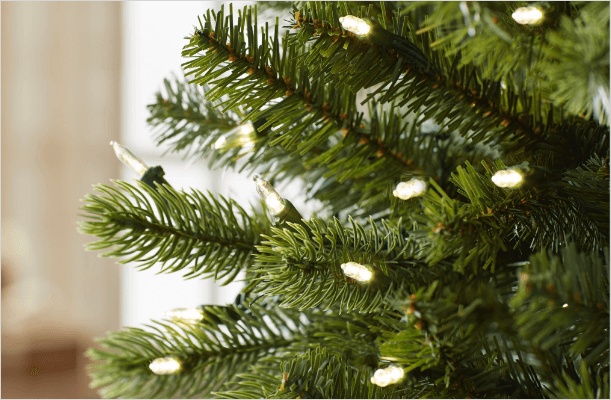 christmas tree light options - Real Christmas Tree Decorated