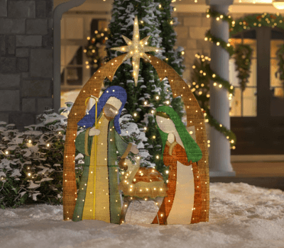 outdoor christmas light installation home nativity outdoor christmas decorations