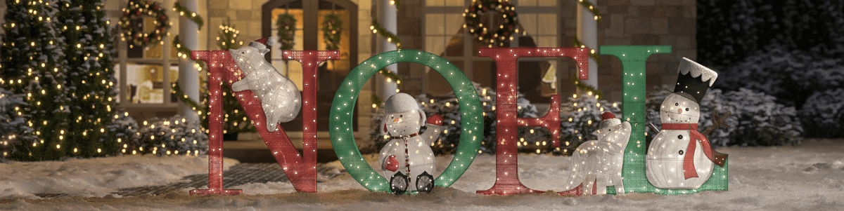 outdoor christmas decorations - Christmas Decor Signs