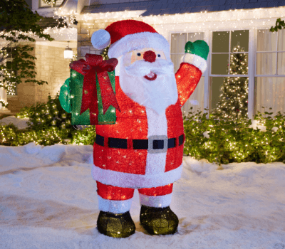 santas - Wooden Led Christmas Decoration