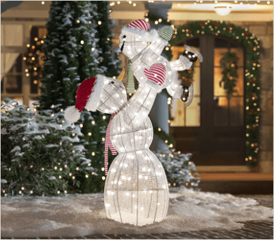 snowmen - Led Lighted Christmas Decorations