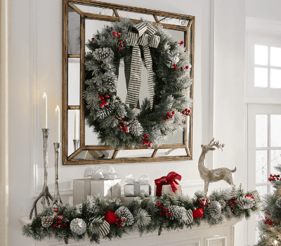 christmas wreaths garland - Christmas Vacation Lawn Decorations