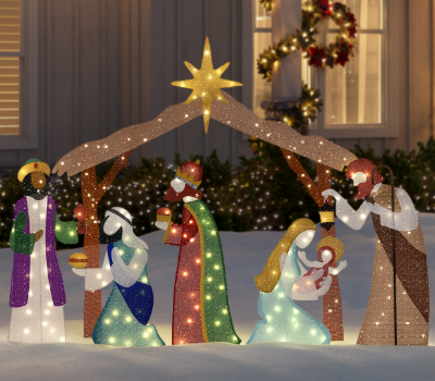 Nativity Outdoor Christmas Decorations.Outdoor Christmas Decorations