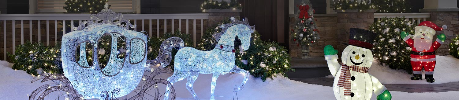 A Winter Wonderland awaits decorate your yard with inflatables and sculptures