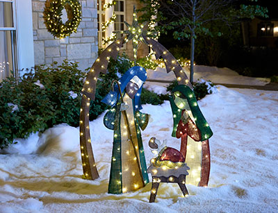 Outdoor christmas decorations nativity workwithnaturefo