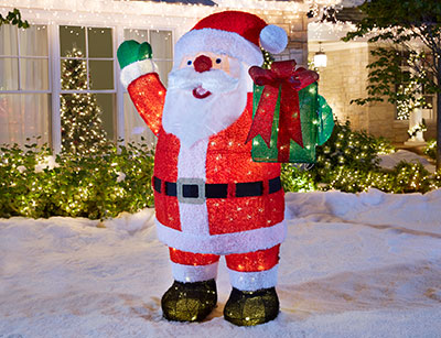 Outdoor christmas decorations santas aloadofball Image collections