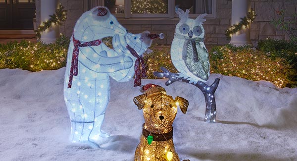 Outdoor Lighted Christmas Animals