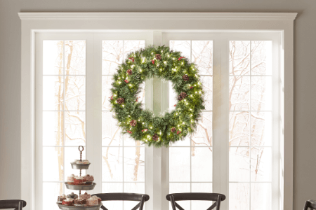 30 36 inches - Solar Powered Christmas Wreath