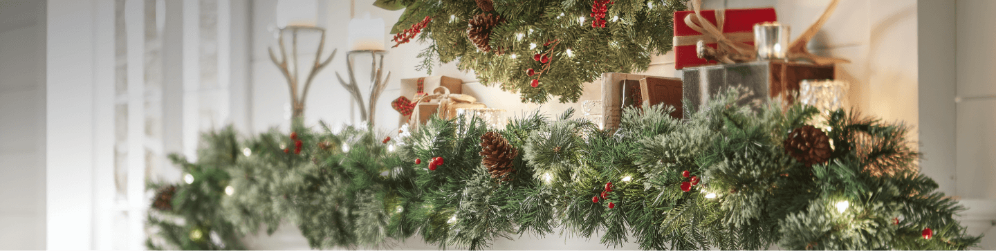 christmas greenery - Garland Christmas Decor