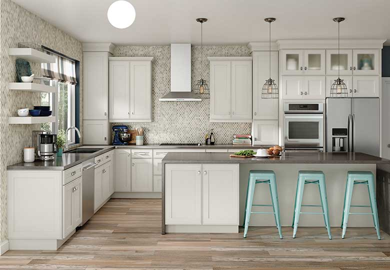 Gray Kitchen Walls With Maple Cabinets