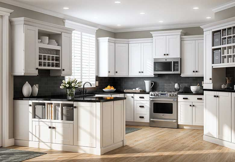 Kitchen cabinets at the home depot for Best brand of paint for kitchen cabinets with outside wall art ideas