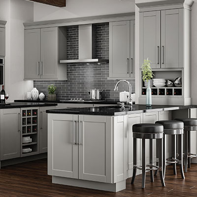 Kitchen cabinets at the home depot for Small kitchen designs pictures and samples