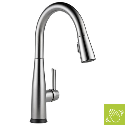 gooseneck kitchen faucet kohler touchon touchless activation kitchen faucets kitchen faucets at the home depot