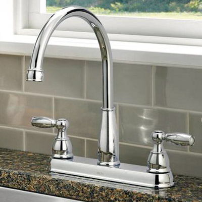 2-Handle Standard Kitchen Faucets : farmhouse kitchen faucets - hauntedcathouse.org