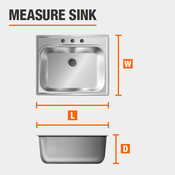 how to measure a sink. Black Bedroom Furniture Sets. Home Design Ideas