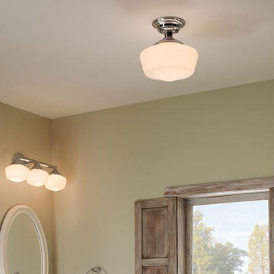 Bathroom lighting fixtures ideas Modern Bathroom Semiflushmount Lighting Home Depot Bathroom Lighting At The Home Depot