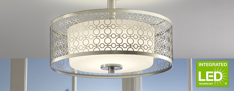 Integrated led ceiling lights · semi flush mount lighting