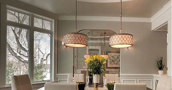 Enlightened dining lighting and fixtures designed for