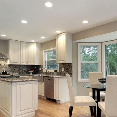 Kitchen lighting fixtures ideas at the home depot recessed lighting aloadofball Image collections
