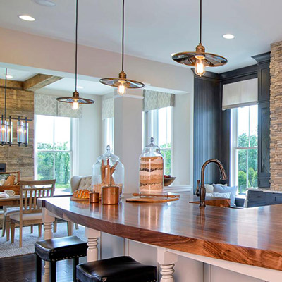 Kitchen lighting fixtures ideas at the home depot kitchens are the new family room aloadofball Image collections