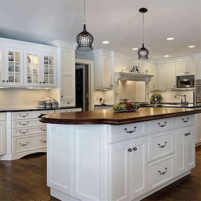 kitchen lighting fixtures ideas at the home depot rh homedepot com Light Fixtures Kitchen Island Ideas Ideas On a Sloped Ceiling Lighting Fixtures for Kitchen