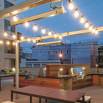 String lights add the perfect decorative touch to outdoor