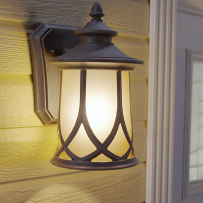 Outdoor lighting exterior light fixtures at the home depot wall lights mozeypictures Image collections
