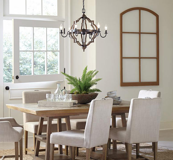 rustic chandeliers - Lighting Dining Room Table