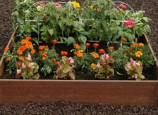 Outdoor planters garden pots at the home depot raised garden beds workwithnaturefo