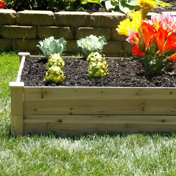 Giant Garden Pots Planters the home depot raised garden beds workwithnaturefo