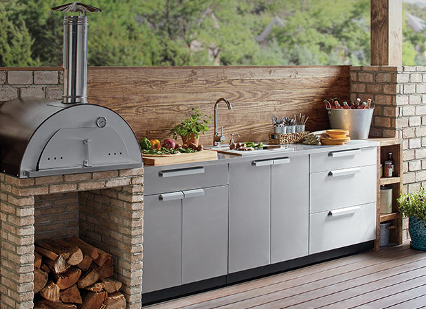 Fabulous Outdoor Kitchens The Home Depot Interior Design Ideas Ghosoteloinfo