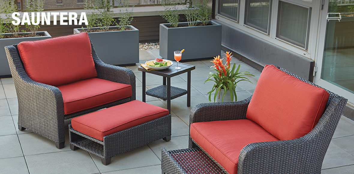 create your own patio collection at the home depot. Black Bedroom Furniture Sets. Home Design Ideas