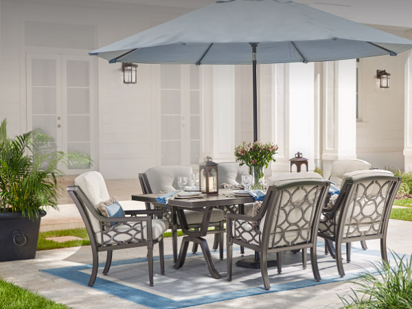 patio chairs table tables modern outdoor style metal with pub set and