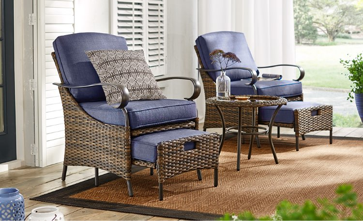 white chairs sets outdoor furniture for small spaces | Patio Furniture - The Home Depot