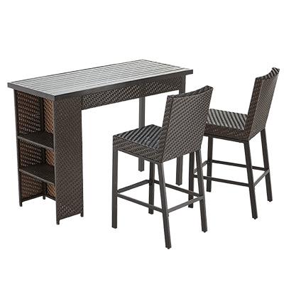 outdoor bar furniture the home depot rh homedepot com outdoor furniture bar set outdoor furniture baers
