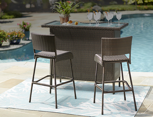 Patio Bar Sets - Outdoor Bar Furniture - The Home Depot