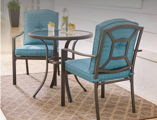 Patio BISTRO SETS · Shop Now · Patio Dining Tables