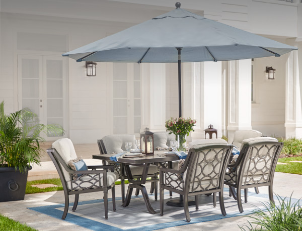 Outdoor Dining Furniture At The Home Depot - Small rectangular patio dining table