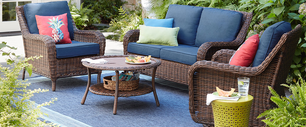 Phenomenal Outdoor Lounge Furniture The Home Depot Andrewgaddart Wooden Chair Designs For Living Room Andrewgaddartcom