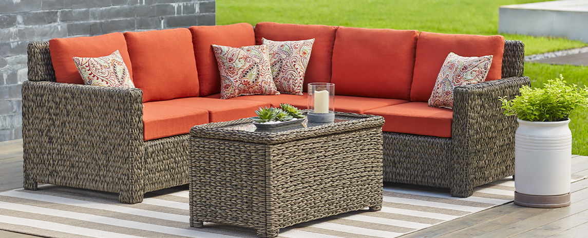 Transitional Outdoor Lounge Patio Furniture