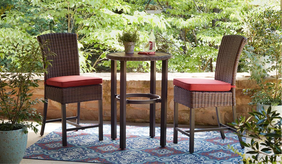 outdoor bar furniture the home depot. Black Bedroom Furniture Sets. Home Design Ideas