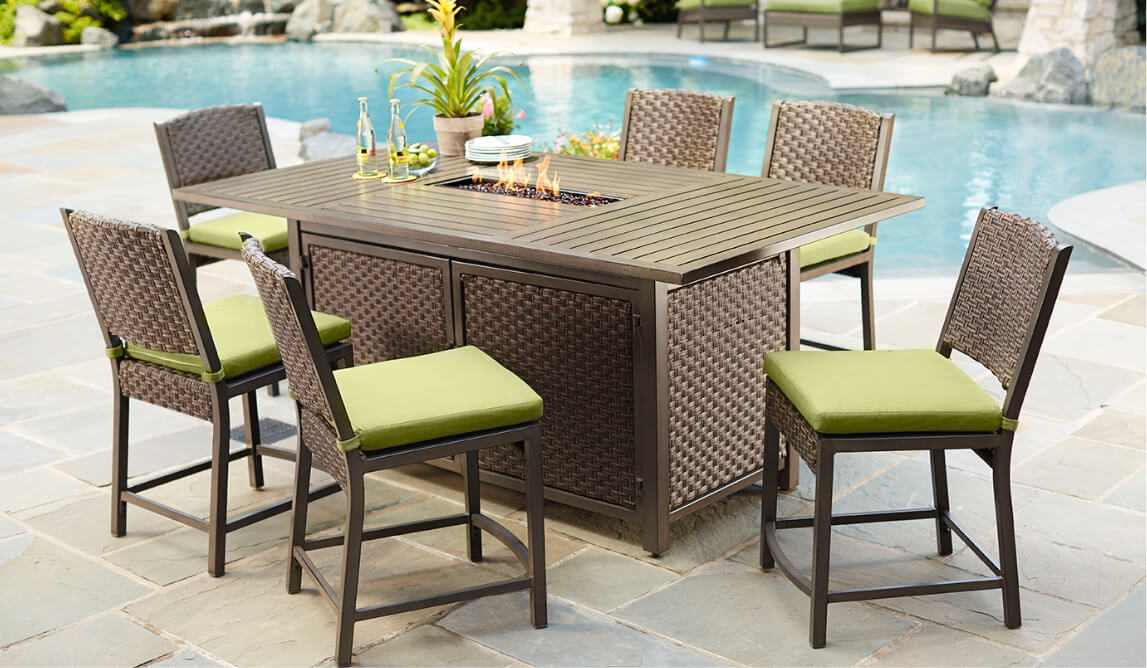 Bar Height Patio Tables
