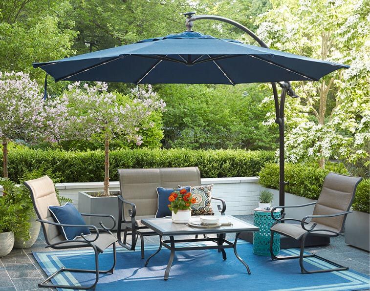 88a28e5457 Patio Umbrellas - The Home Depot