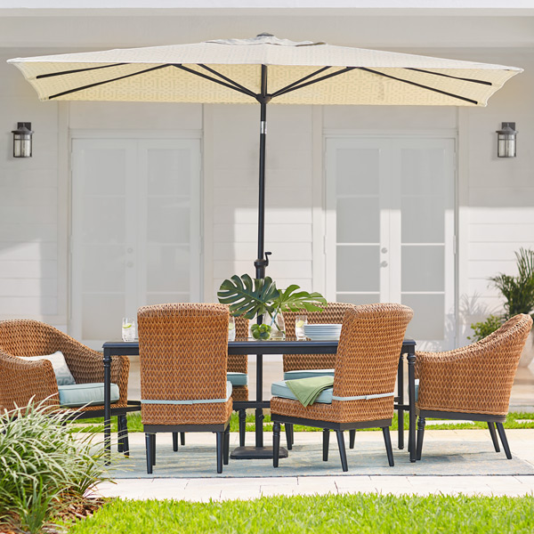 rectangular umbrellas - Patio Table With Umbrella