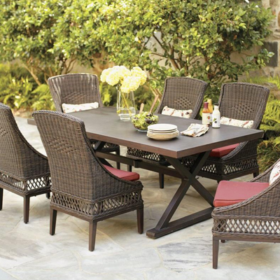 Admirable Wicker Patio Furniture Sets The Home Depot Download Free Architecture Designs Sospemadebymaigaardcom