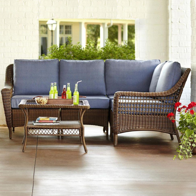 Wicker Patio Furniture. Wicker Outdoor Patio Furniture - Wicker Patio Furniture Sets - The Home Depot