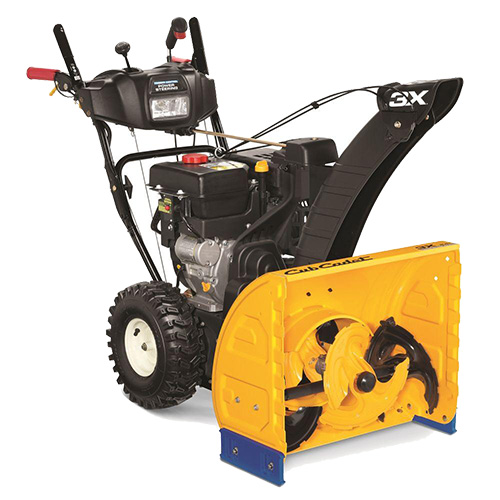 Three-stage snow blowers