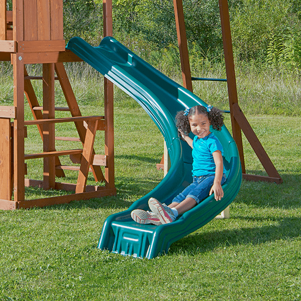 how to build a playground sliding board
