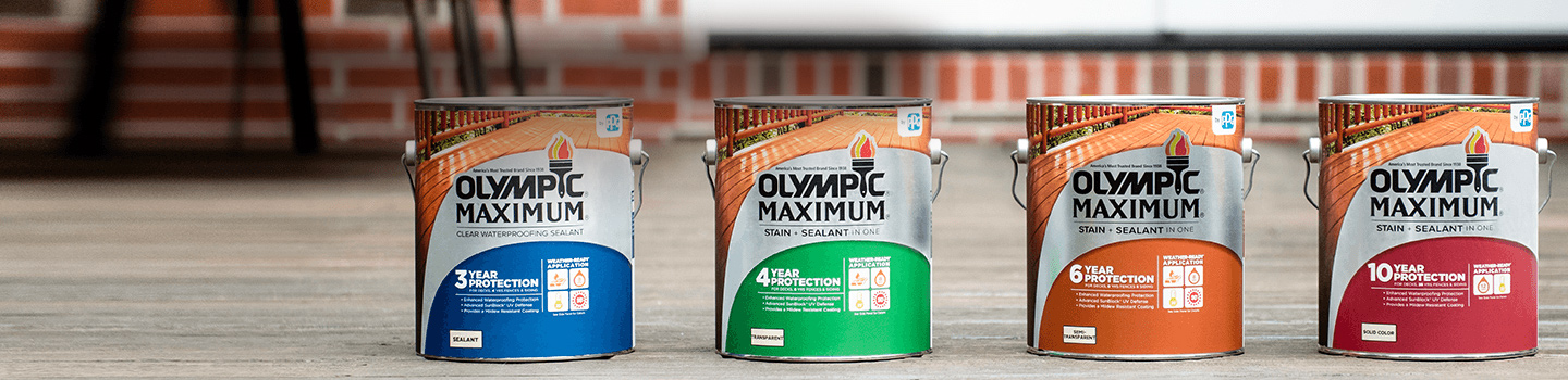 TRUSTED FOR 8- YEARS & TOP RATED: Olympic wood stains now available