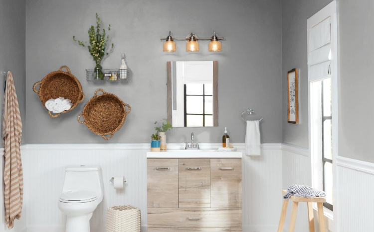 Fine Bathroom Paint Colors The Home Depot Interior Design Ideas Inesswwsoteloinfo
